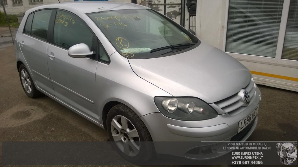 Naudotos automobilio dalys Volkswagen GOLF PLUS 2006 1.9 Mechaninė Vienatūris 4/5 d. Pilka 2014-8-29