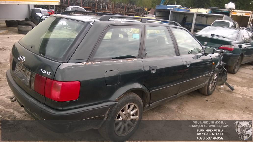 Naudotos automobiliu dallys Foto 6 Audi 80 1994 1.9 Mechaninė Universalas 4/5 d. Žalia 2014-9-01 A1757