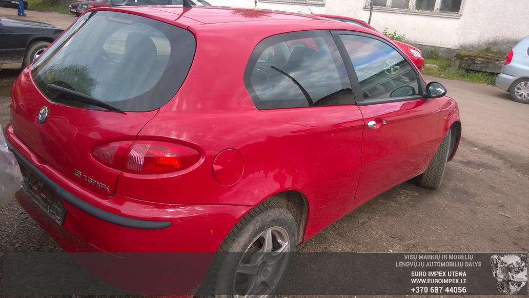 Naudotos automobilio dalys Alfa-Romeo 147 2002 1.6 Mechaninė Hačbekas 2/3 d. Raudona 2014-9-01