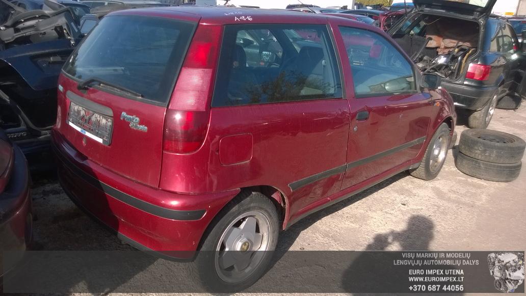 Naudotos automobilio dalys Fiat PUNTO 1996 1.2 Mechaninė Hačbekas 2/3 d. Raudona 2014-9-30