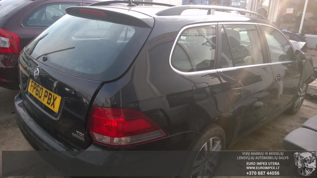 Naudotos automobiliu dallys Foto 6 Volkswagen GOLF 2010 1.6 Mechaninė Universalas 4/5 d. Juoda 2014-10-14 A1859
