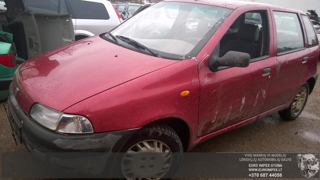 Naudotos automobilio dalys Fiat PUNTO 1996 1.1 Mechaninė Hačbekas 4/5 d. Raudona 2014-10-21