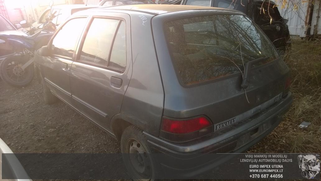 Naudotos automobilio dalys Renault CLIO 1991 1.4 Automatinė Hačbekas 4/5 d. Pilka 2014-10-27