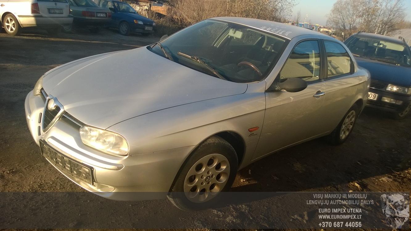Naudotos automobilio dalys Alfa-Romeo 156 1999 2.0 Mechaninė Sedanas 4/5 d. Pilka 2014-10-28