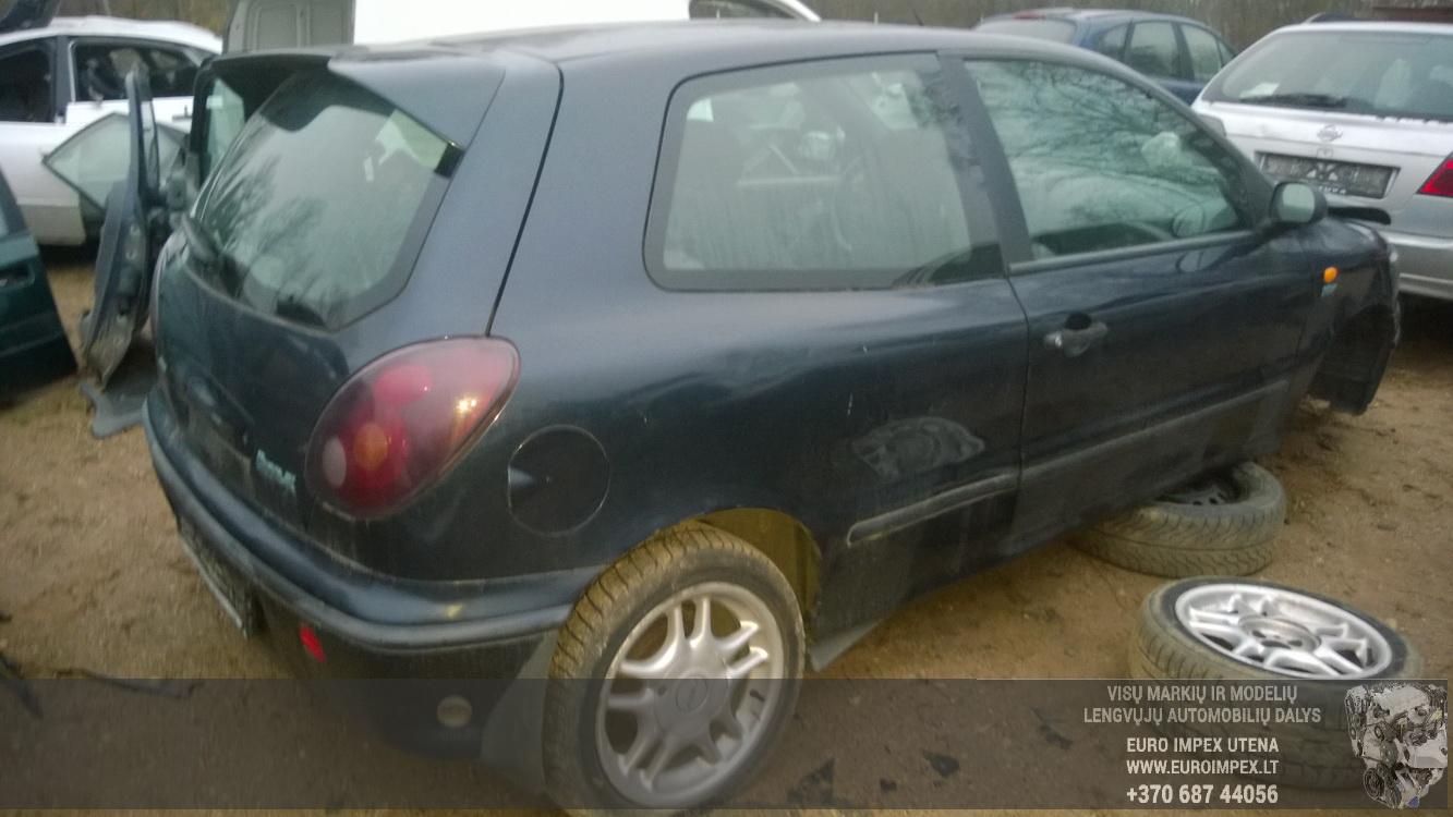 Naudotos automobilio dalys Fiat BRAVO 1996 1.4 Mechaninė Hačbekas 2/3 d. Juoda 2014-11-10
