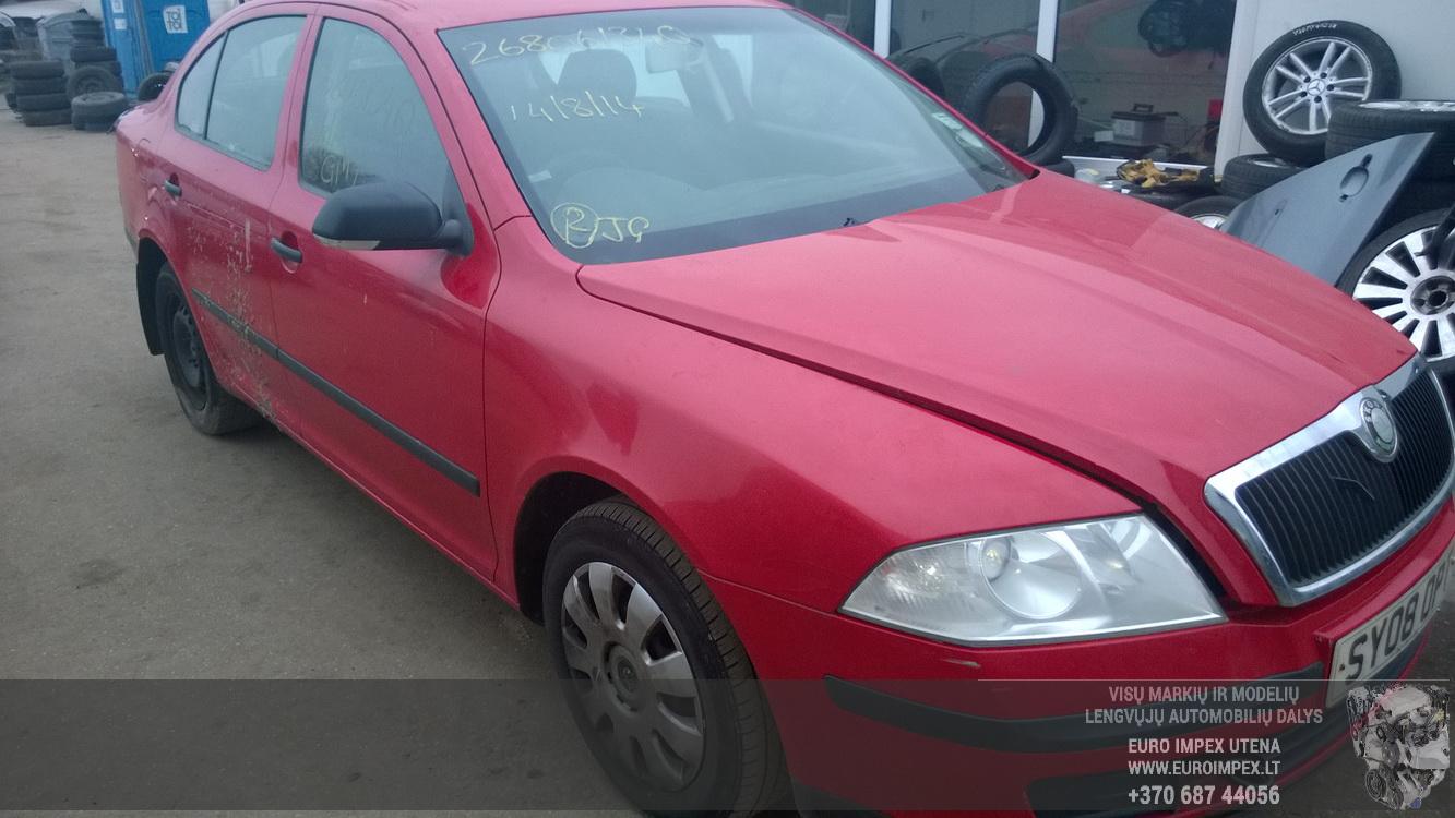 Naudotos automobilio dalys Skoda OCTAVIA 2008 1.9 Mechaninė Sedanas 4/5 d. Raudona 2014-11-15