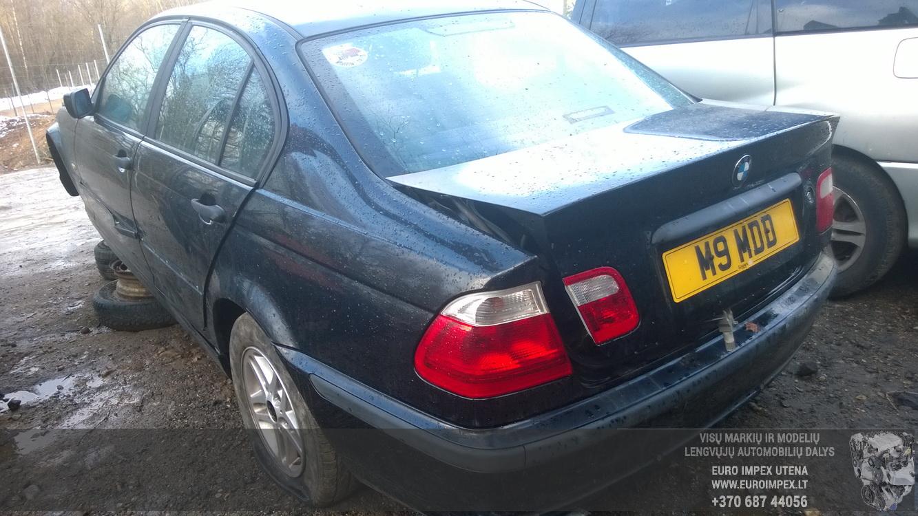 Naudotos automobilio dalys BMW 3-SERIES 2001 1.9 Mechaninė Sedanas 4/5 d. Juoda 2014-12-13