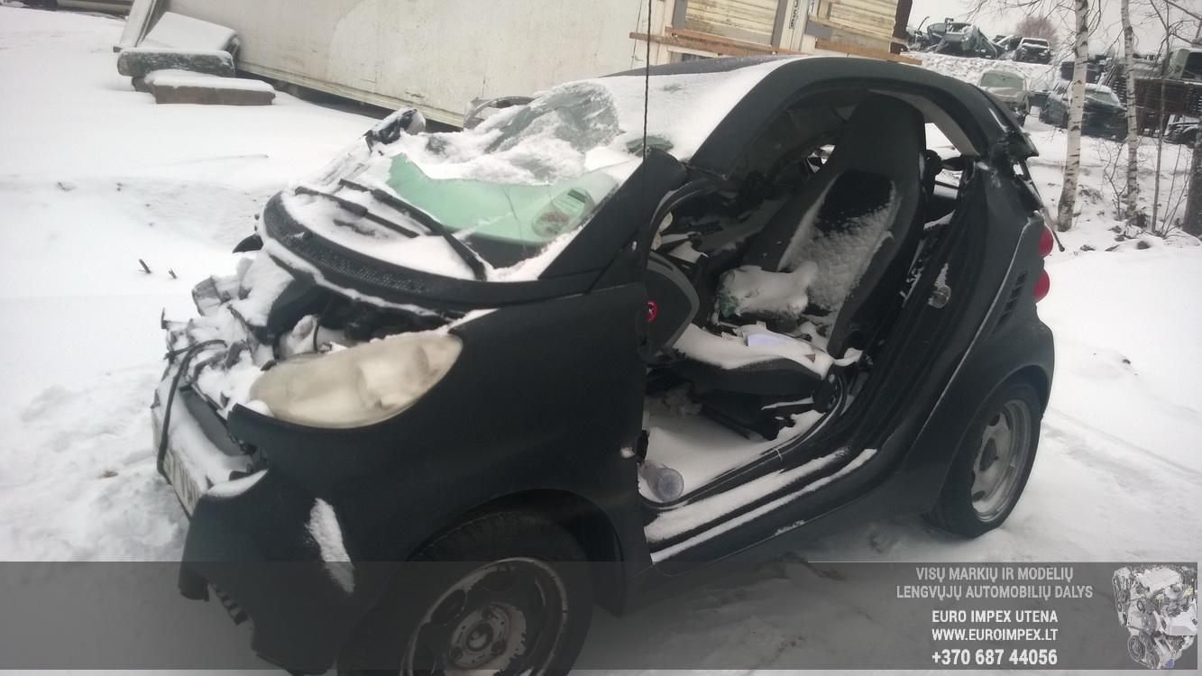 Naudotos automobilio dalys Smart FORTWO 2008 1.0 Automatinė Kupė 2/3 d. Juoda 2014-12-31