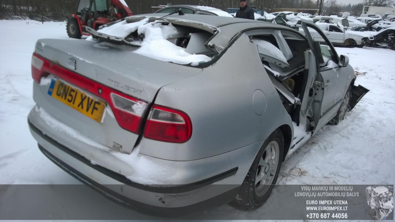 Naudotos automobilio dalys Seat TOLEDO 2001 1.9 Mechaninė Sedanas 4/5 d. Pilka 2014-12-31