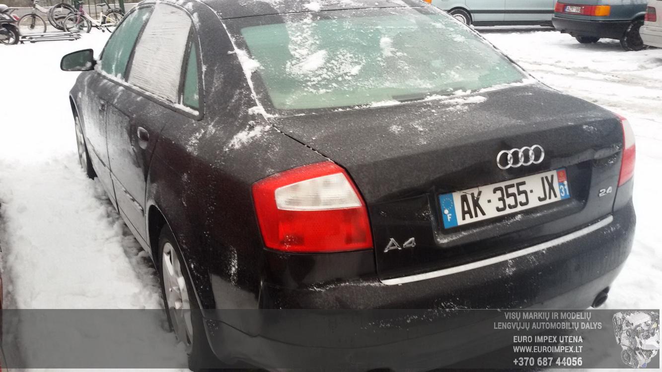 Naudotos automobilio dalys Audi A4 2003 2.4 Automatinė Sedanas 4/5 d. Juoda 2015-1-26
