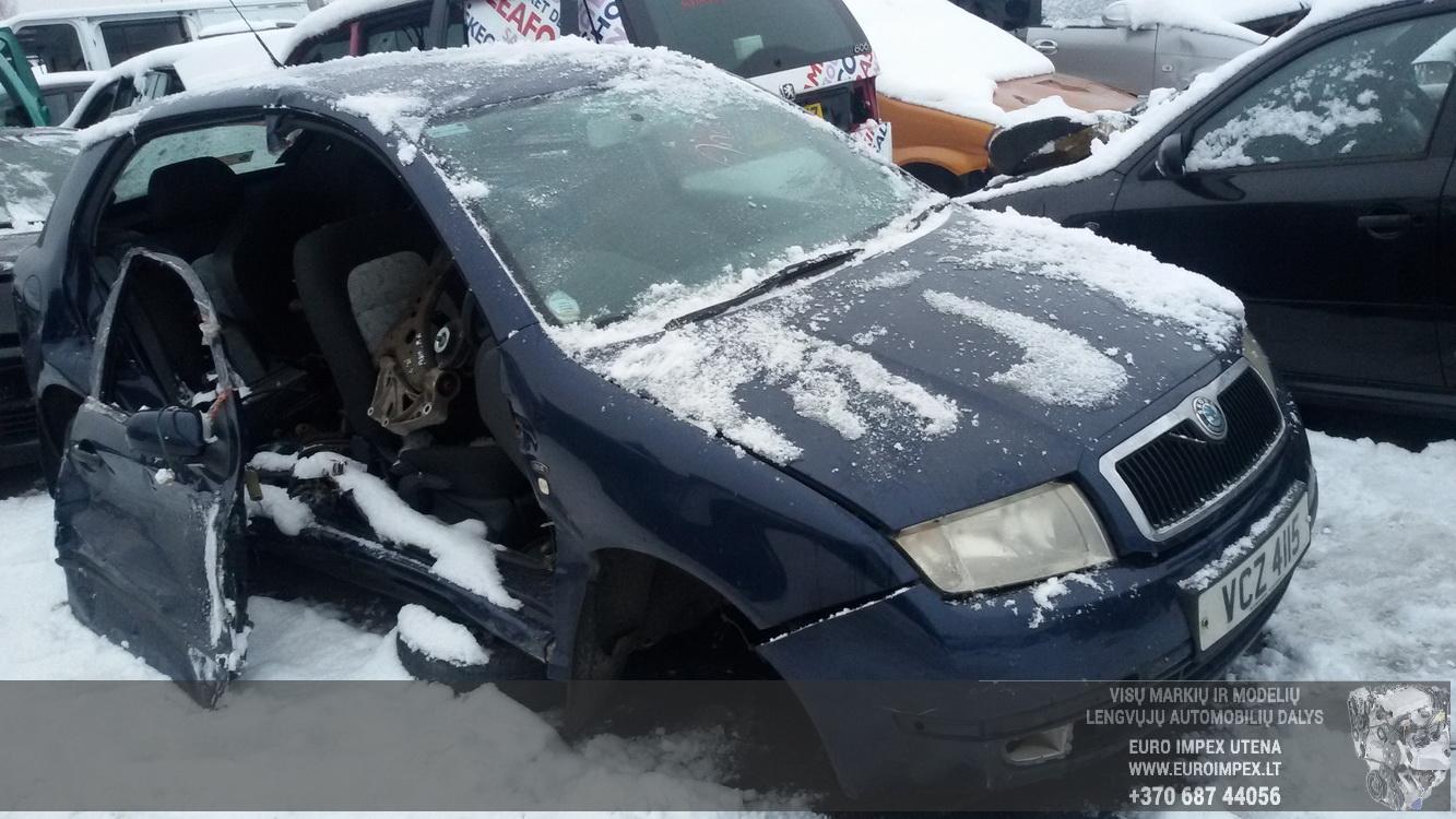 Naudotos automobilio dalys Skoda FABIA 2003 1.9 Mechaninė Hačbekas 4/5 d. Melyna 2015-1-29