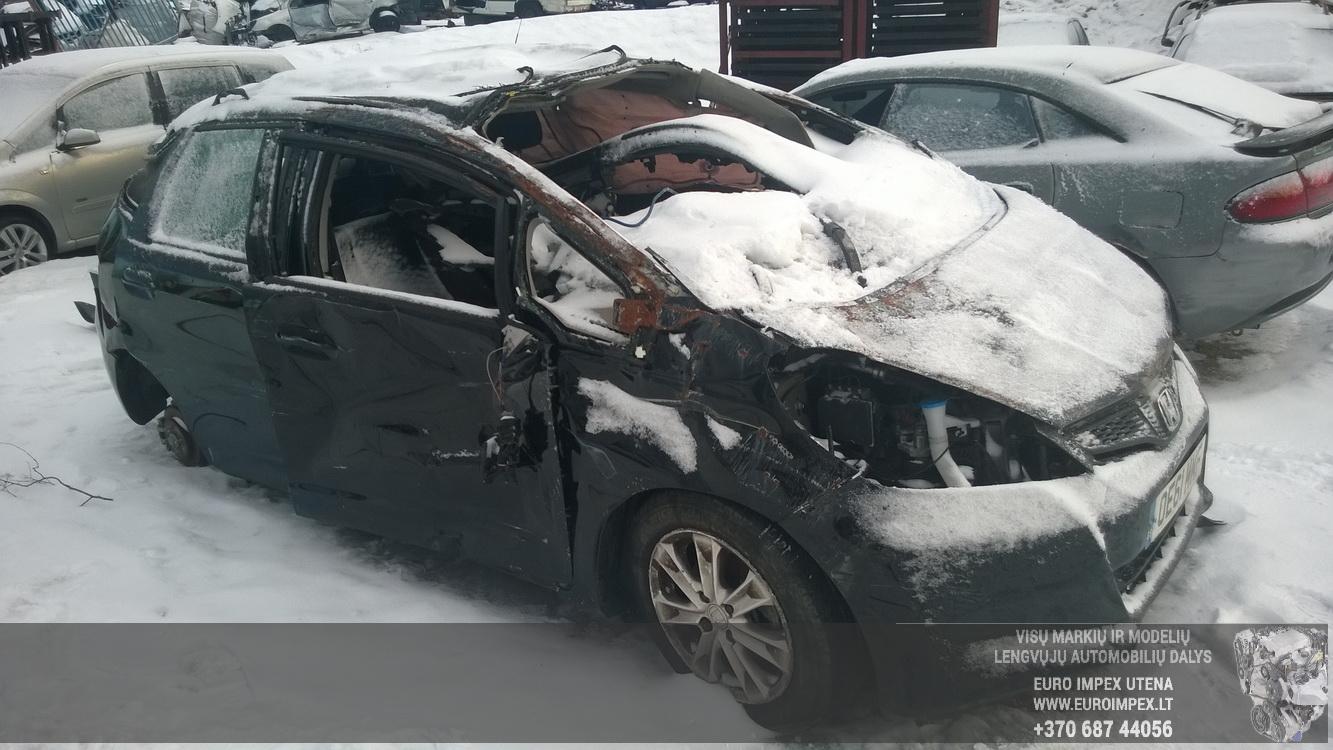 Naudotos automobiliu dallys Foto 3 Honda JAZZ 2012 1.4 Mechaninė Hačbekas 4/5 d. Juoda 2015-1-12 A2041