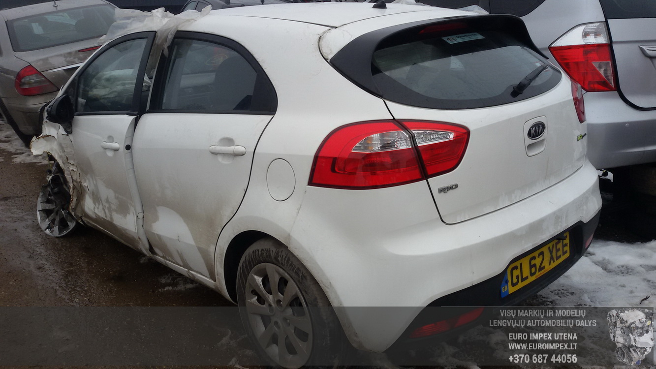 Naudotos automobilio dalys Kia RIO 2013 1.1 Mechaninė Hačbekas 4/5 d. Balta 2015-2-12