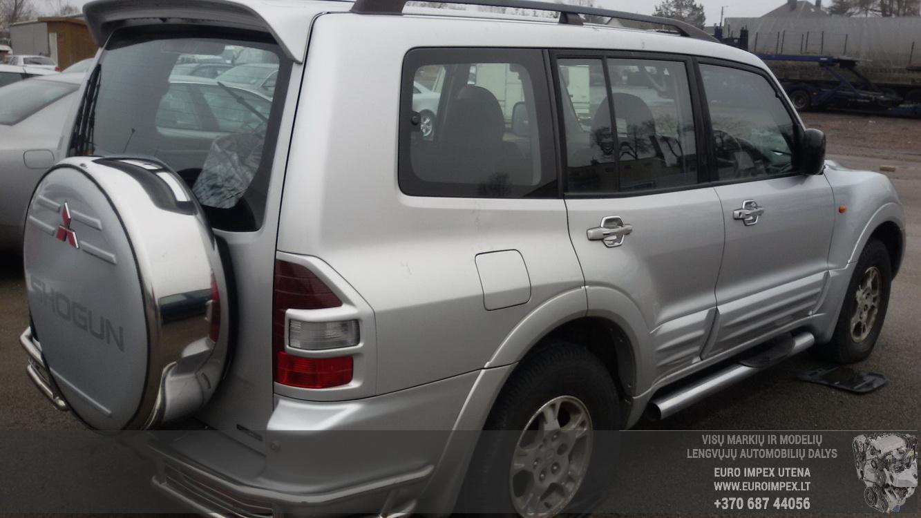Naudotos automobilio dalys Mitsubishi PAJERO 2003 3.5 Automatinė Visureigis 4/5 d. Pilka 2015-2-24