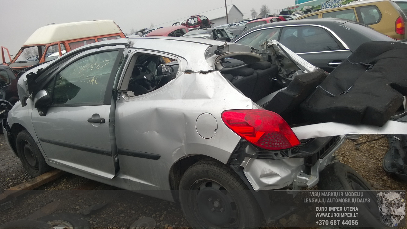 Naudotos automobiliu dallys Foto 7 Peugeot 207 2008 1.4 Mechaninė Hačbekas 2/3 d. Pilka 2015-2-25 A2134