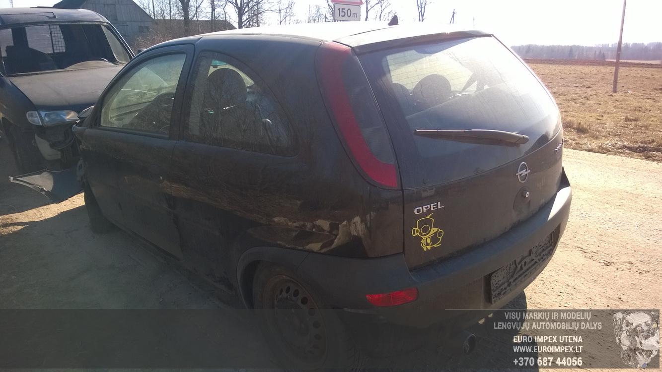 Naudotos automobilio dalys Opel CORSA 2001 1.2 Mechaninė Hačbekas 2/3 d. Juoda 2015-3-19