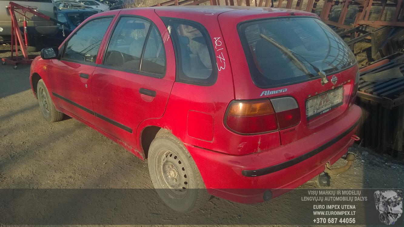 Naudotos automobilio dalys Nissan ALMERA 1995 1.4 Mechaninė Hačbekas 4/5 d. Raudona 2015-3-19
