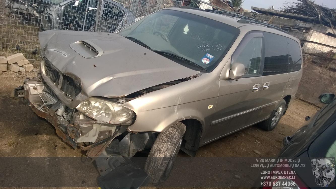 Naudotos automobilio dalys Kia SEDONA 2004 2.9 Mechaninė Vienatūris 4/5 d. Pilka 2015-4-07