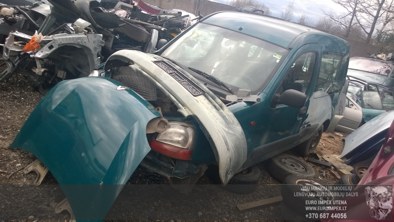 Naudotos automobilio dalys Renault KANGOO 2002 1.9 Mechaninė Komercinis 2/3 d. Zalia 2015-4-08
