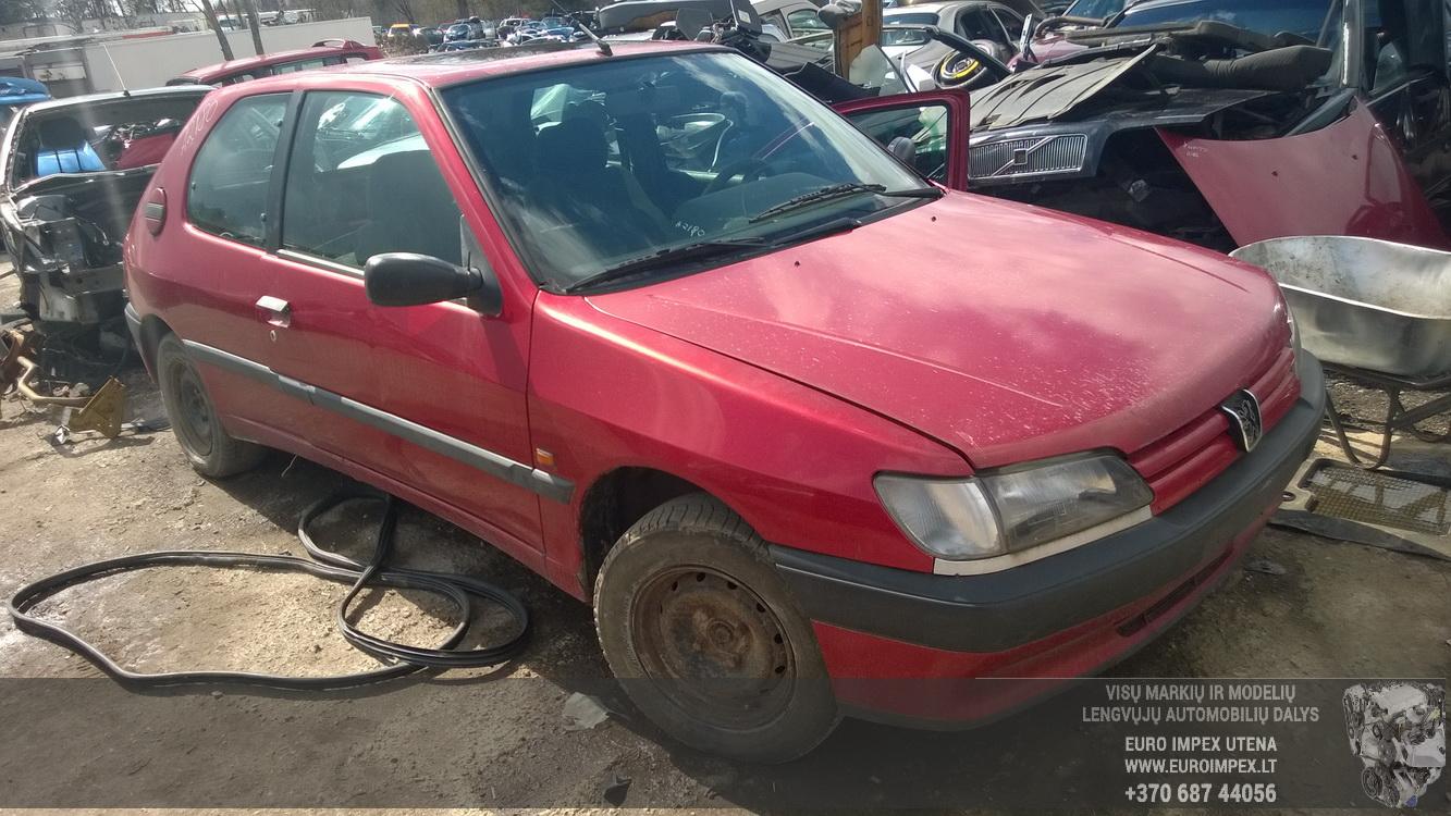 Naudotos automobilio dalys Peugeot 306 1995 1.4 Mechaninė Hačbekas 2/3 d. Raudona 2015-4-14