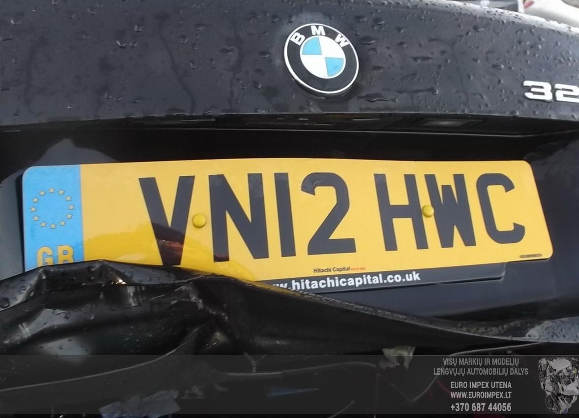 Naudotos automobiliu dallys Foto 1 BMW 3-SERIES 2012 2.0 Automatinė Sedanas 4/5 d. Juoda 2015-6-25 A2244