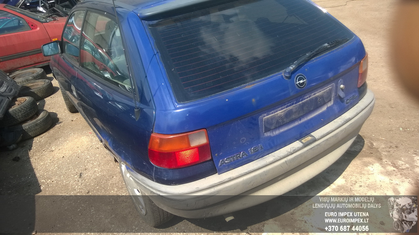 Naudotos automobiliu dallys Foto 6 Opel ASTRA 1992 1.6 Mechaninė Hačbekas 2/3 d. Melyna 2015-6-02 A2220