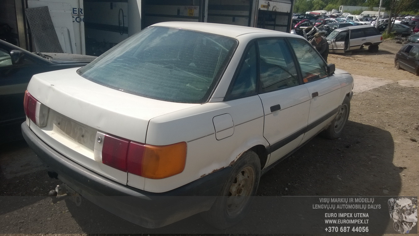Naudotos automobiliu dallys Foto 6 Audi 80 1989 1.8 Mechaninė Sedanas 4/5 d. Balta 2015-6-08 A2231