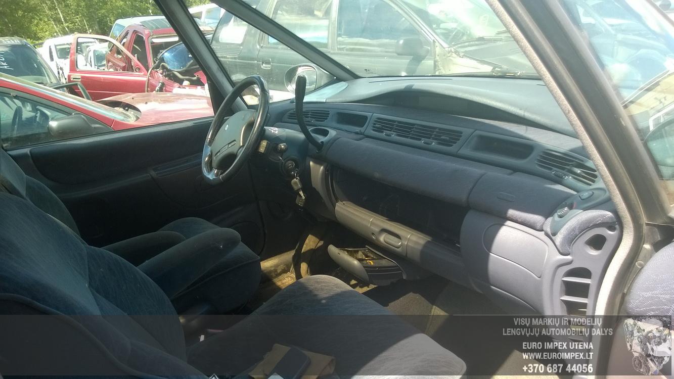 Naudotos automobiliu dallys Foto 5 Renault ESPACE 1997 3.0 Automatinė Vienatūris 4/5 d. Juoda 2015-6-16 A2237
