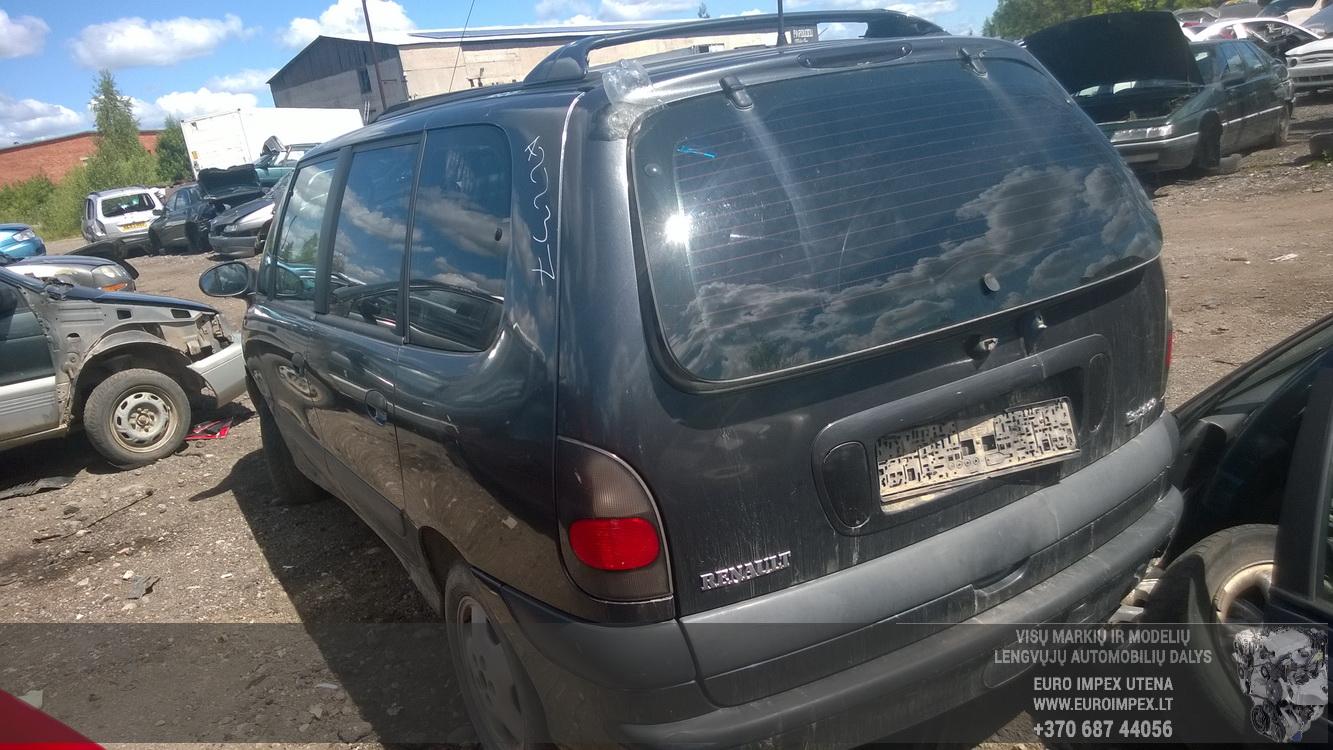 Naudotos automobiliu dallys Foto 7 Renault ESPACE 1997 3.0 Automatinė Vienatūris 4/5 d. Juoda 2015-6-16 A2237