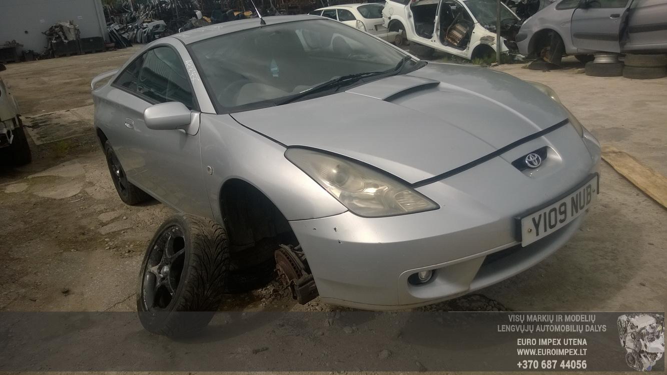 Naudotos automobilio dalys Toyota CELICA 2001 1.8 Mechaninė Kupė 2/3 d. Pilka 2015-6-26