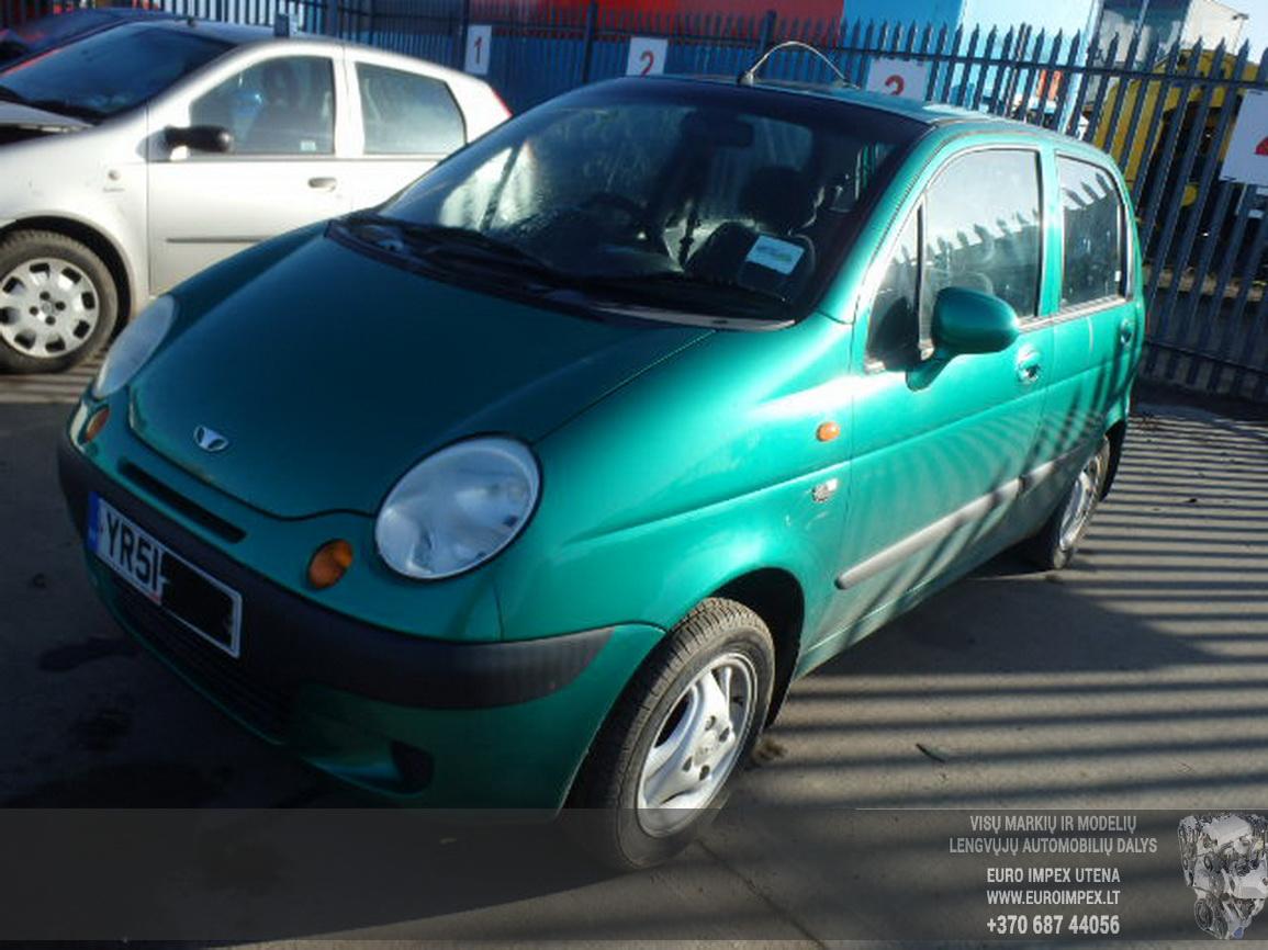 Подержанные Автозапчасти Daewoo MATIZ 2001 0.8 машиностроение хэтчбэк 4/5 d. зеленый 2015-7-14
