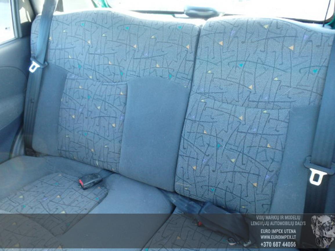 Naudotos automobilio dalys Daewoo MATIZ 2001 0.8 Mechaninė Hačbekas 4/5 d. Zalia 2015-7-14