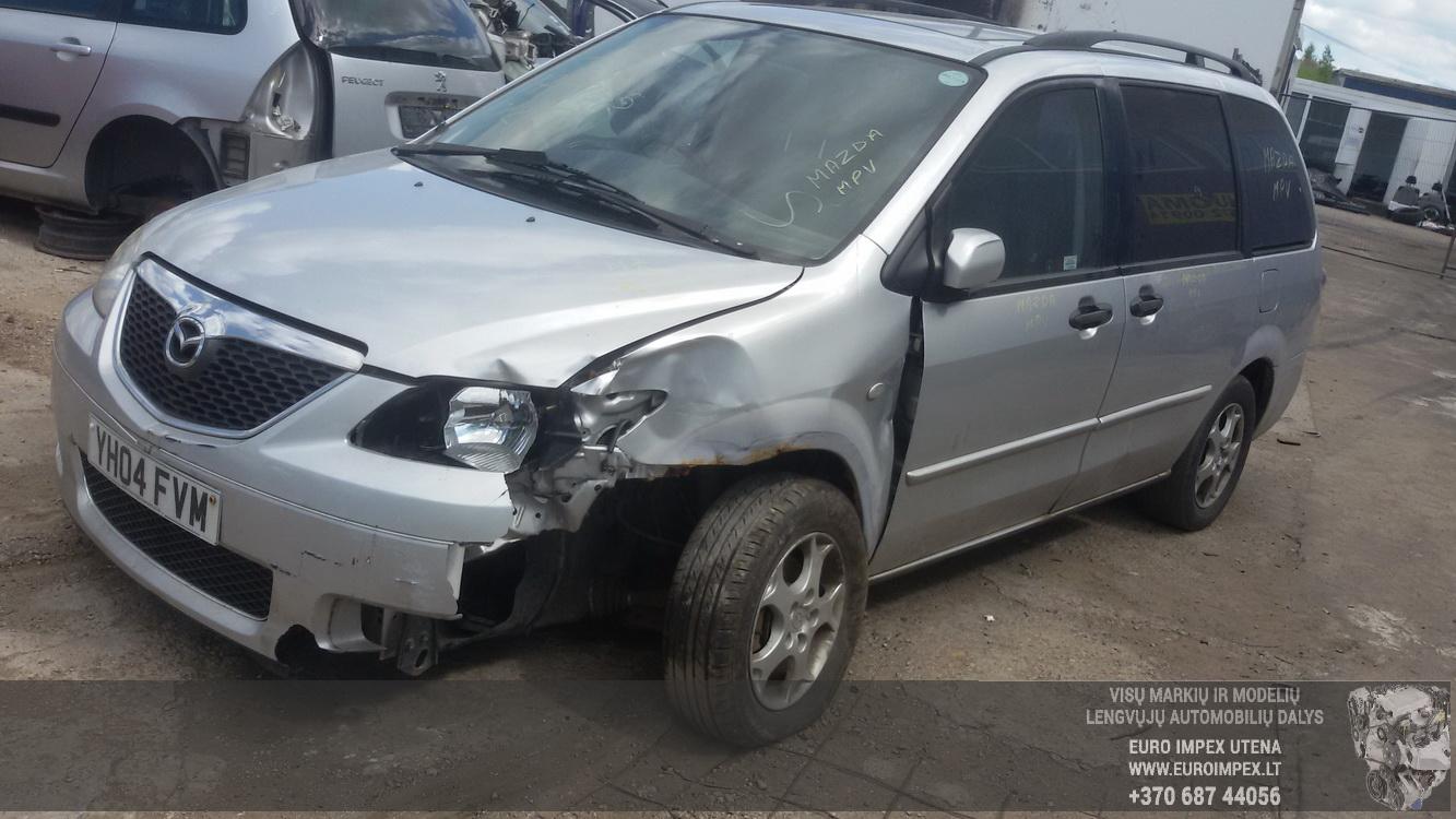 Naudotos automobilio dalys Mazda MPV 2004 2.3 Mechaninė Vienatūris 4/5 d. Pilka 2015-7-28
