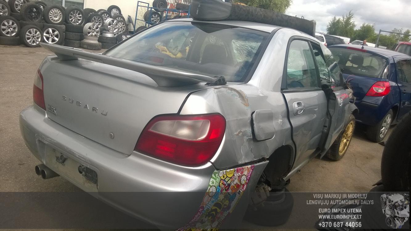 Naudotos automobilio dalys Subaru IMPREZA 2002 2.0 Automatinė Sedanas 4/5 d. Pilka 2015-7-21