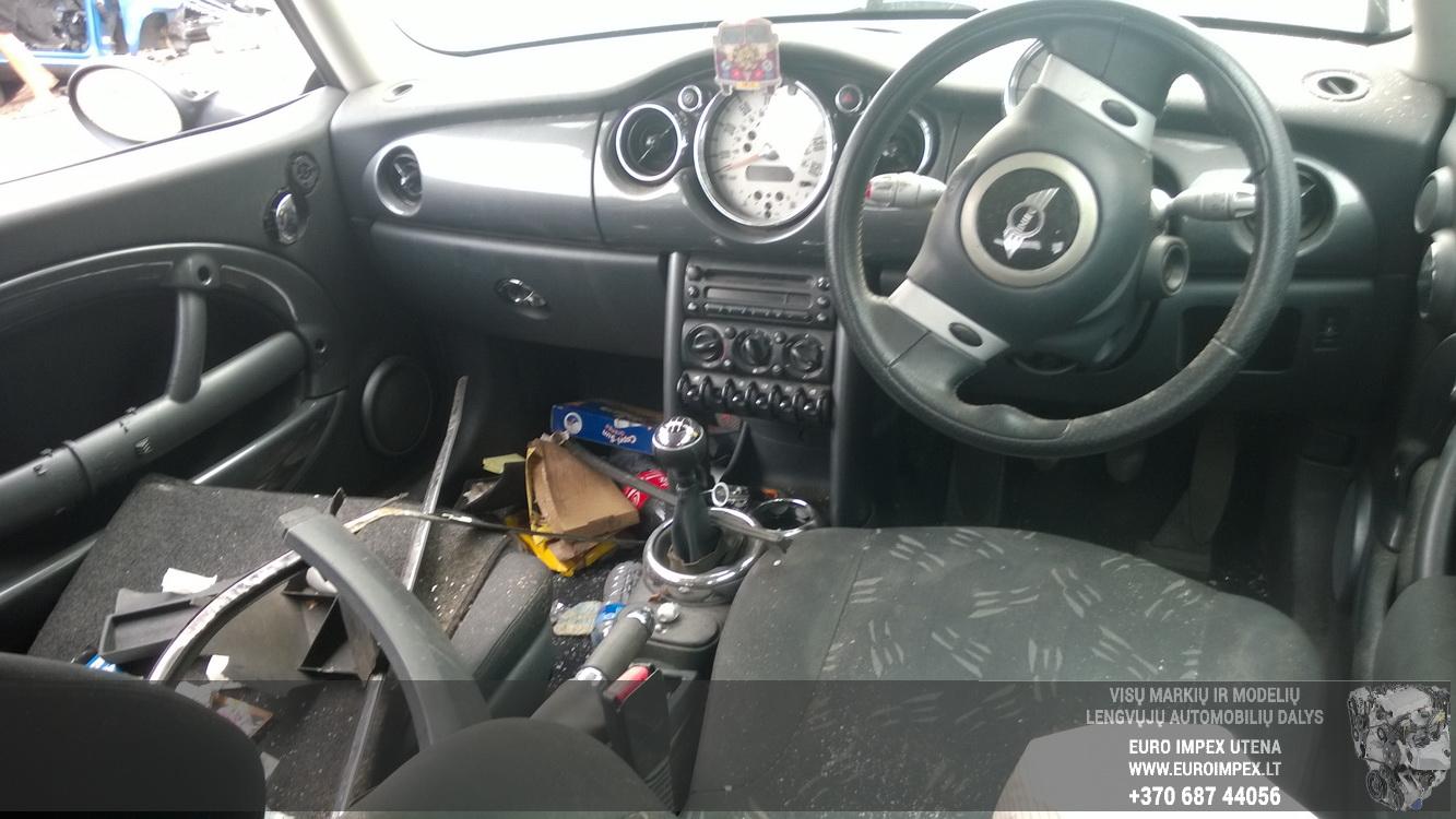 Naudotos automobiliu dallys Foto 4 Mini ONE 2005 1.6 Mechaninė Hečbekas 2/3 d. Juoda 2015-8-18 A2336