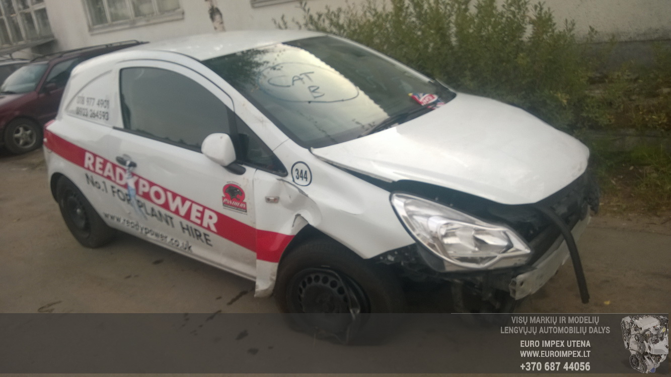 Naudotos automobilio dalys Opel CORSA 2013 1.3 Mechaninė Hečbekas 2/3 d. Balta 2015-9-02