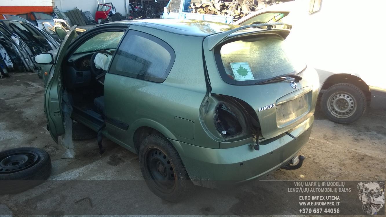 Naudotos automobilio dalys Nissan ALMERA 2003 1.5 Mechaninė Hečbekas 4/5 d. Zalia 2015-9-30