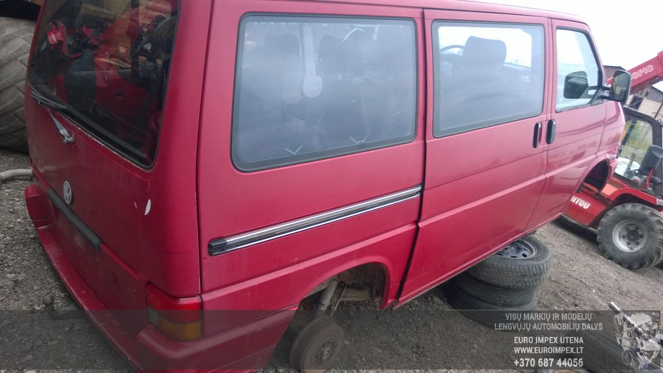 Naudotos automobilio dalys Volkswagen TRANSPORTER 1992 2.4 Mechaninė Komercinis 2/3 d. Raudona 2015-10-01