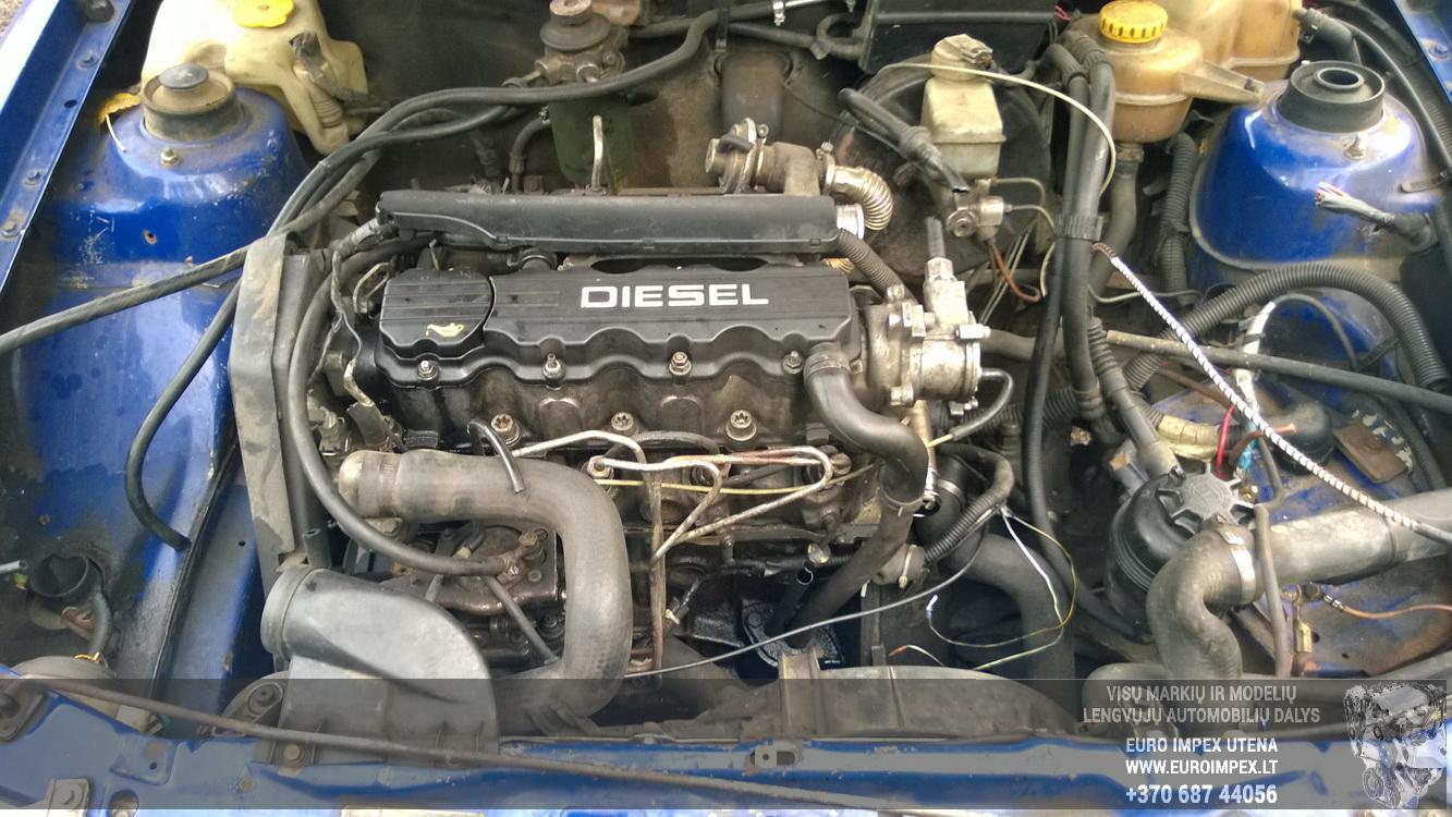 Naudotos automobiliu dallys Foto 8 Opel ASTRA 1994 1.7 Mechaninė Sedanas 4/5 d. Melyna 2015-10-02 A2397