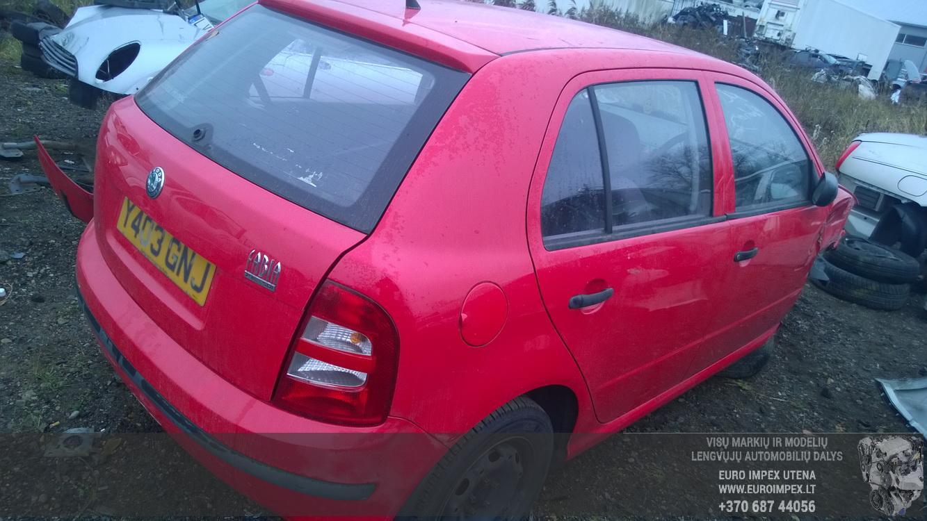 Naudotos automobilio dalys Skoda FABIA 2003 1.9 Mechaninė Hečbekas 4/5 d. Raudona 2015-11-05