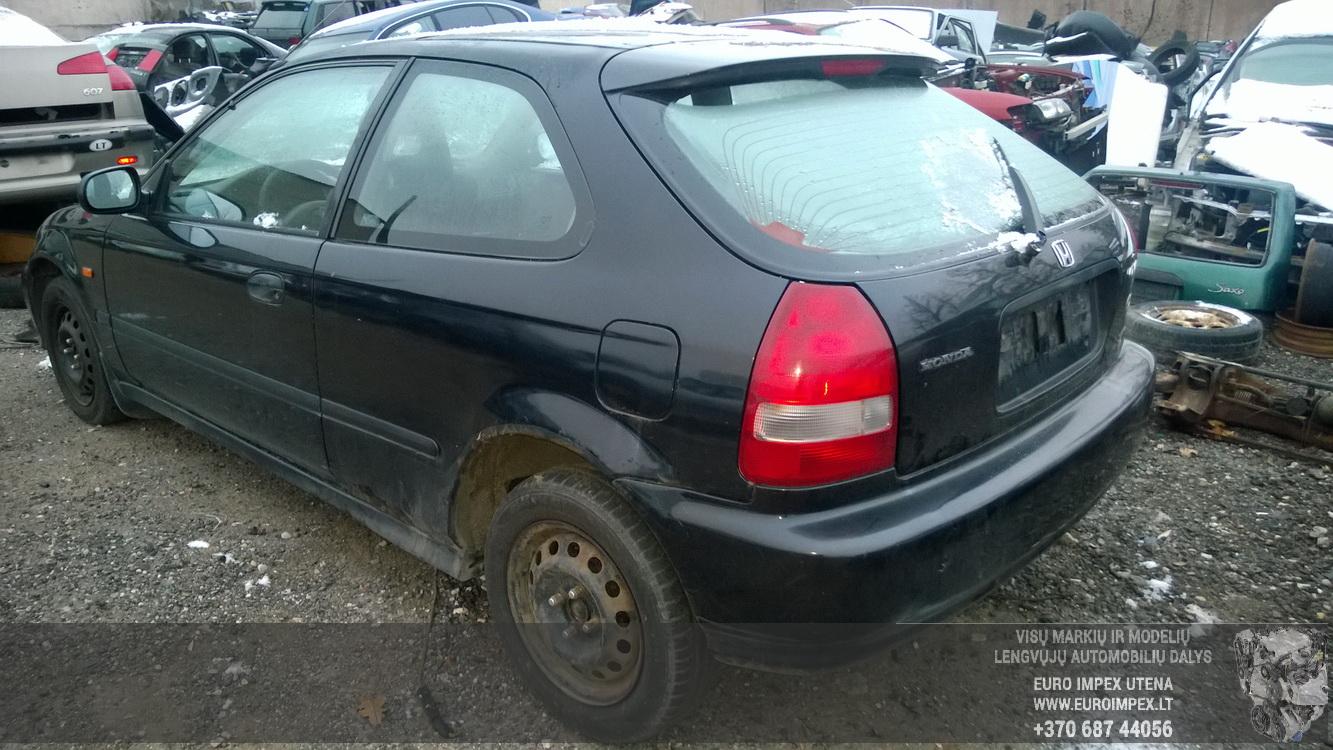 Naudotos automobilio dalys Honda CIVIC 1999 1.4 Automatinė Hečbekas 2/3 d. Juoda 2015-11-27