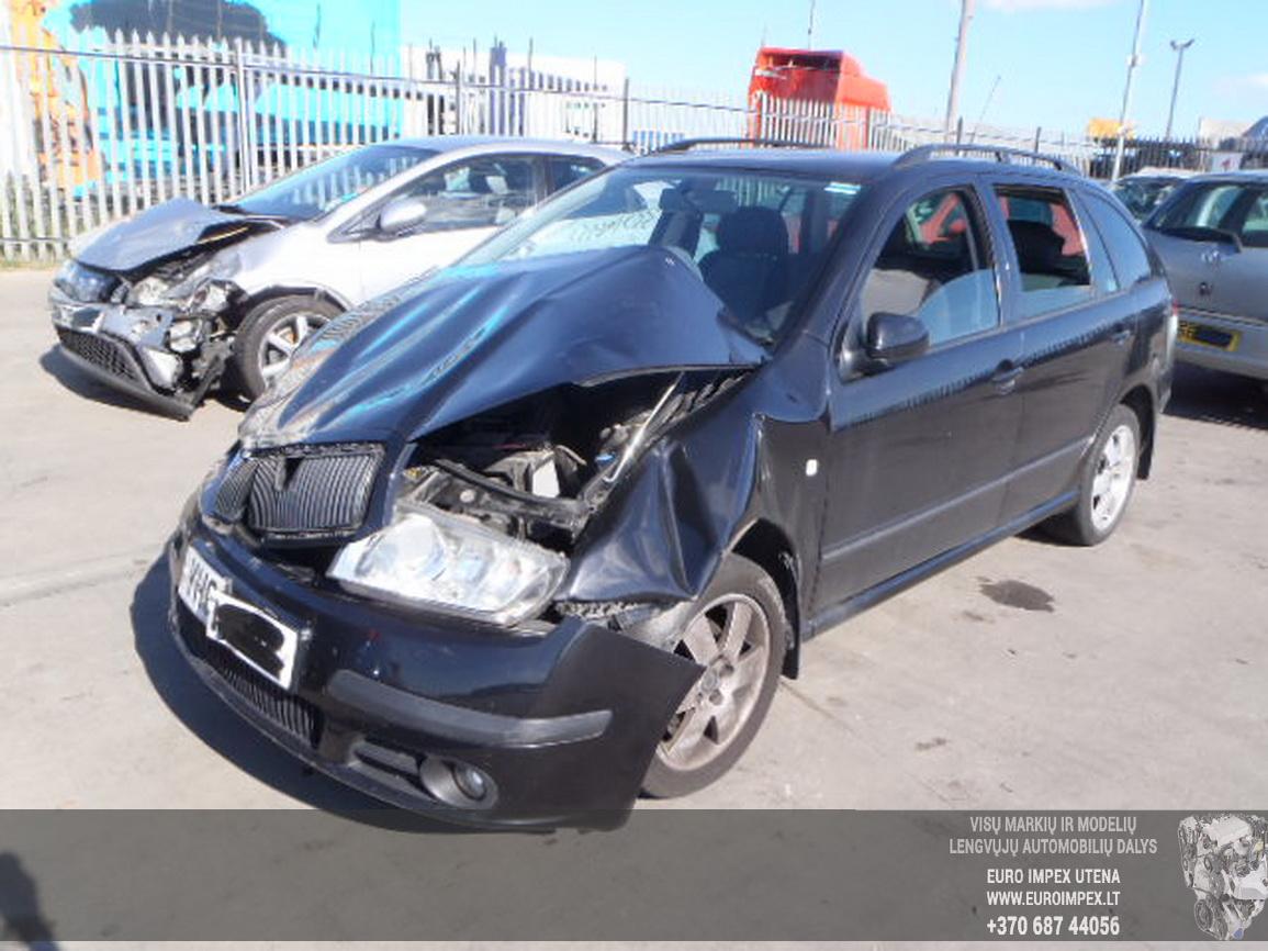 Naudotos automobilio dalys Skoda FABIA 2007 1.2 Mechaninė Universalas 4/5 d. Juoda 2015-12-03