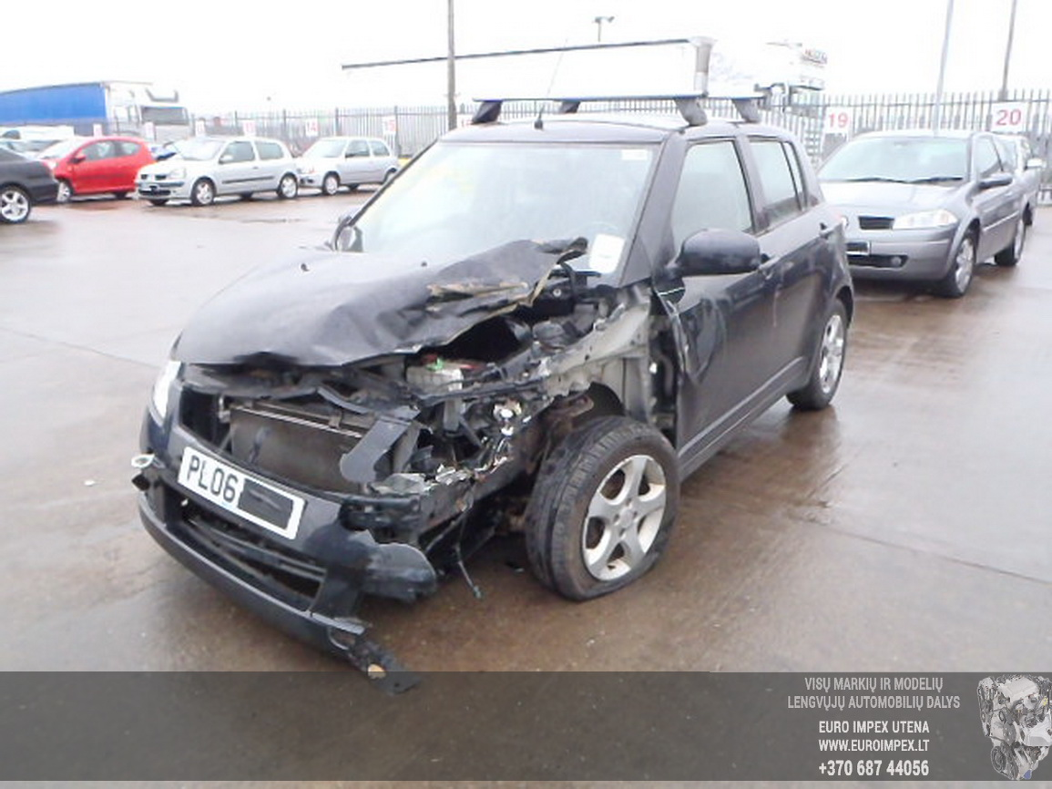 Naudotos automobilio dalys Suzuki SWIFT 2006 1.5 Mechaninė Hečbekas 4/5 d. Juoda 2015-12-11