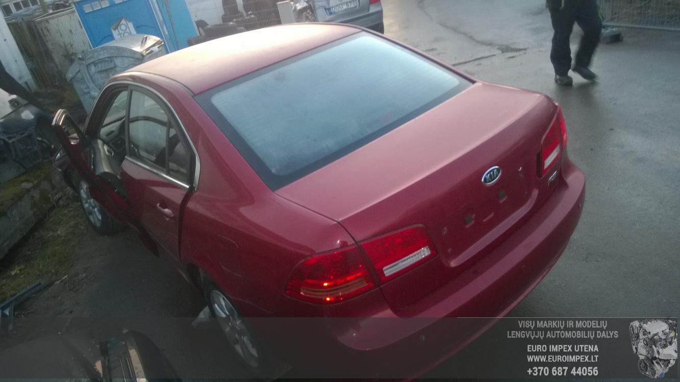 Naudotos automobilio dalys Kia MAGENTIS 2007 2.0 Mechaninė Sedanas 4/5 d. Raudona 2015-12-10