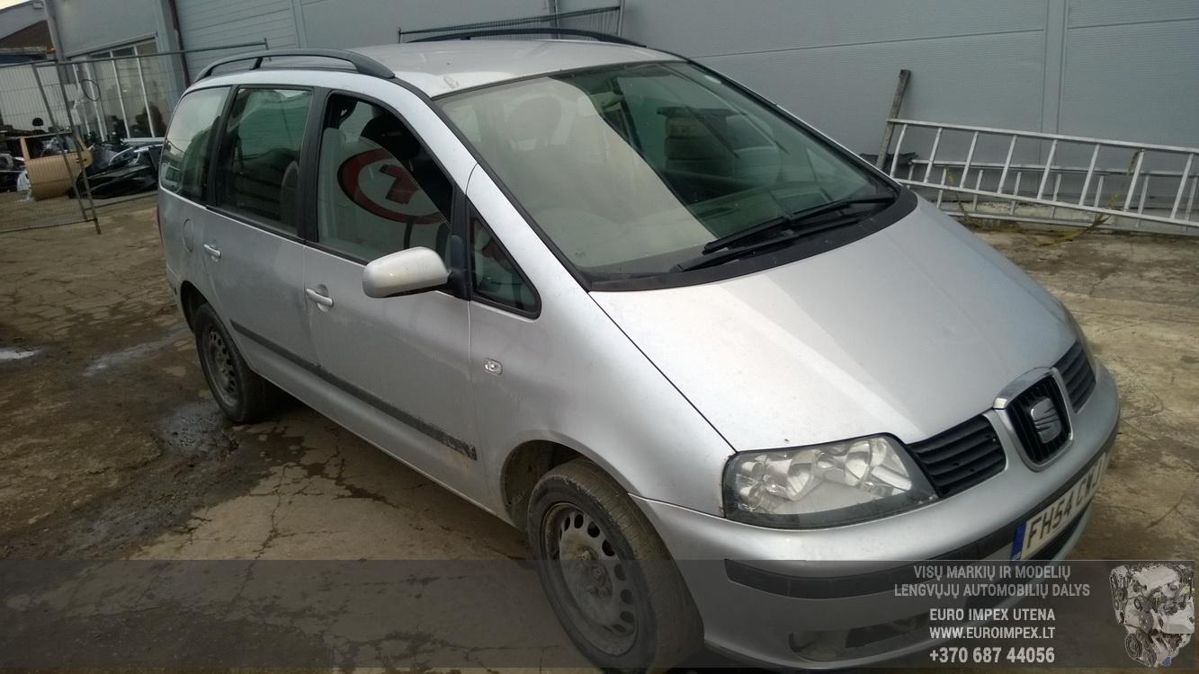 Naudotos automobilio dalys Seat ALHAMBRA 2005 1.9 Mechaninė Vienatūris 4/5 d. Pilka 2015-12-11