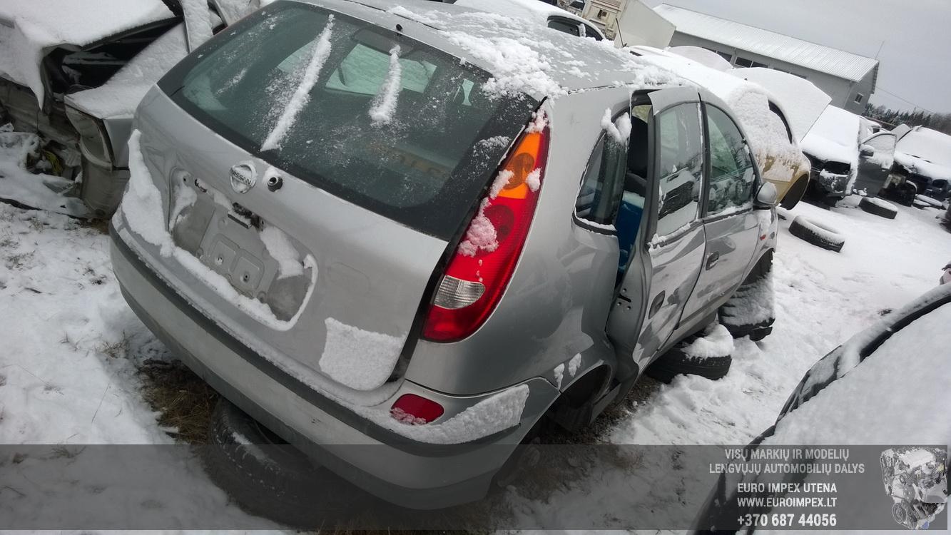 Naudotos automobilio dalys Nissan ALMERA TINO 2003 1.8 Mechaninė Vienatūris 4/5 d. Pilka 2015-12-28