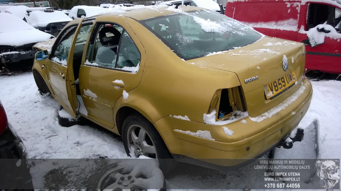 Naudotos automobilio dalys Volkswagen BORA 1999 1.9 Mechaninė Sedanas 4/5 d. Geltona 2015-12-28