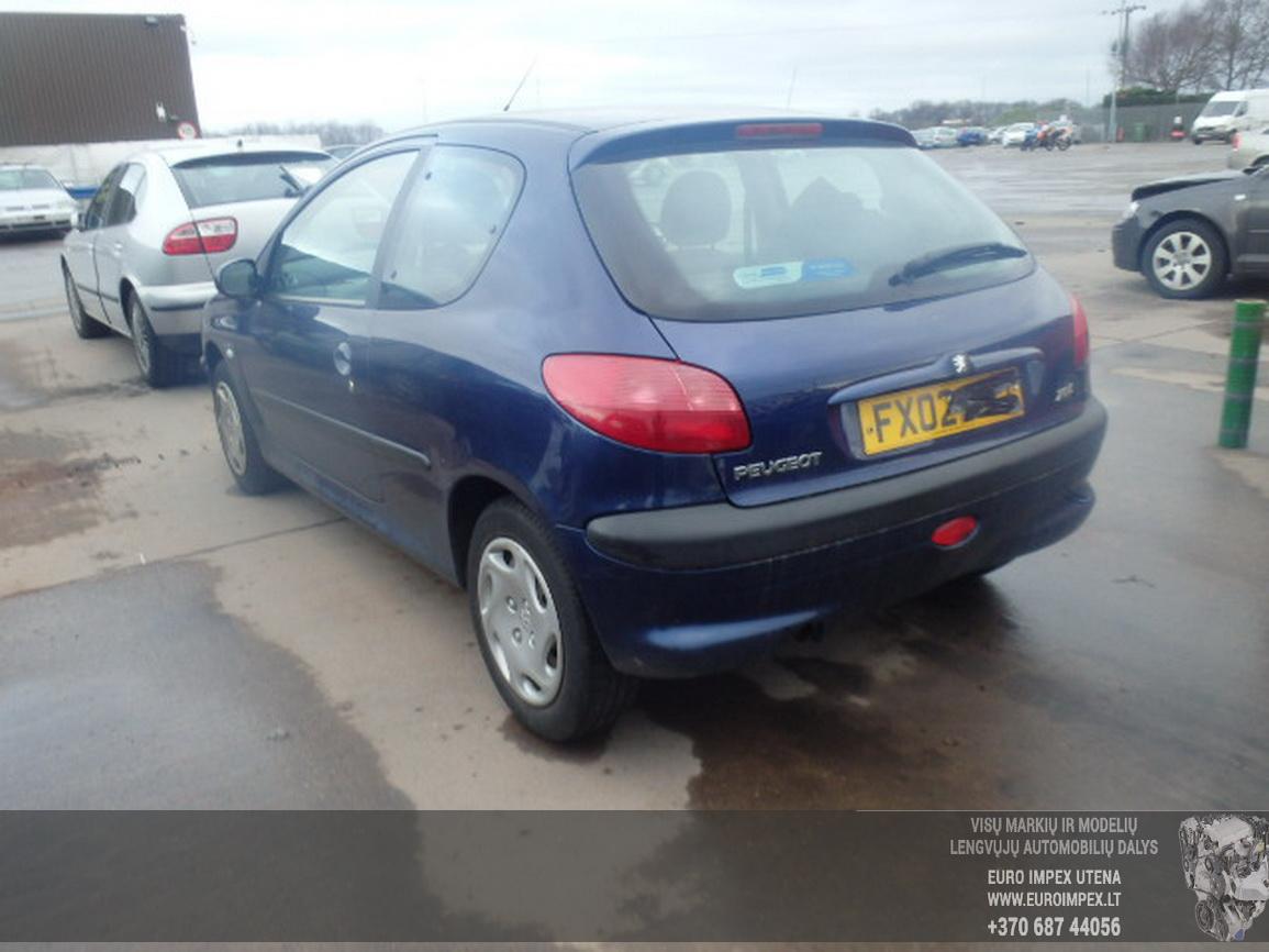 Naudotos automobiliu dallys Foto 2 Peugeot 206 2002 1.1 Mechaninė Hečbekas 2/3 d. Violetine 2016-2-15 A2598