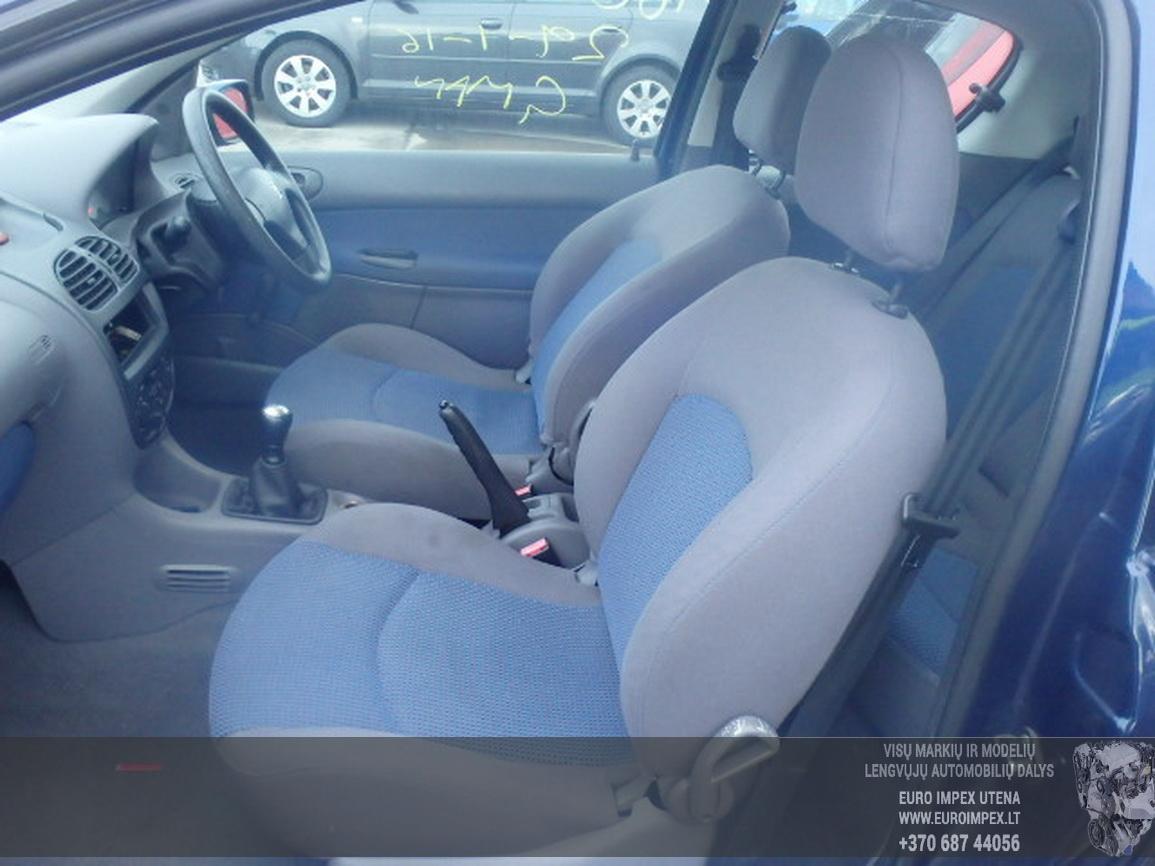Naudotos automobiliu dallys Foto 5 Peugeot 206 2002 1.1 Mechaninė Hečbekas 2/3 d. Violetine 2016-2-15 A2598