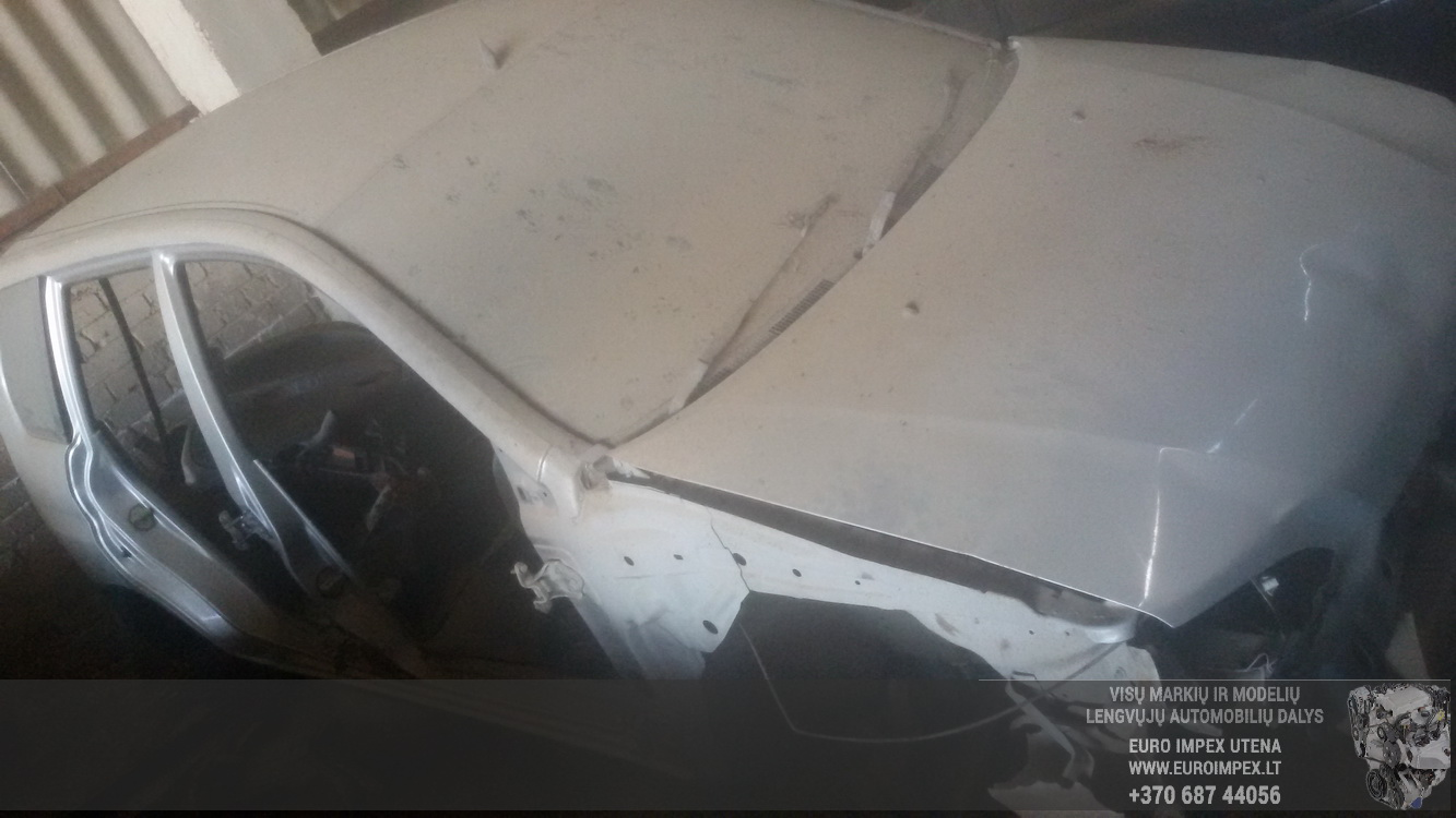 Naudotos automobilio dalys Mitsubishi SPACE STAR 2001 1.6 Mechaninė Vienatūris 4/5 d. Balta 2016-5-09